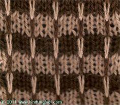 Ridge Check - Knittingfool Stitch Detail