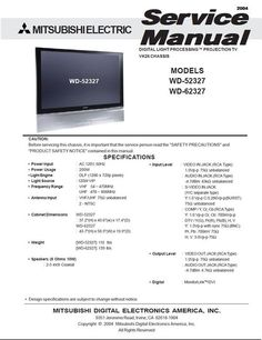 Mitsubishi lt 2220 2240 3020 3040 3050 service manual pinterest mitsubishi wd 52327 wd 62327 vk26 chassis digital light processing projection tv freerunsca Image collections
