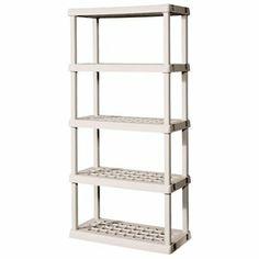 Sterilite Premium Heavy Duty Storage Unit With Tubular Construction,  Sterilite High Quality Products 4 Shelf Upright Unit.