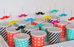 Fun and easy mustache party favor / treat Birthday Party Treats, 40th Birthday Gifts, Birthday Parties, Diy Hot Air Balloons, Little Man Birthday, Bear Party, School Treats, Kids On The Block, Bake Sale