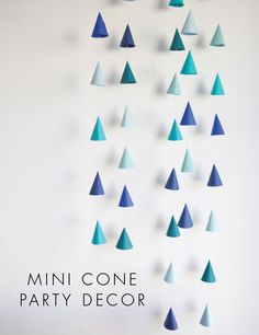 Cone Party Decor DIY - or could make these for a portion of the big wall in the bedroom