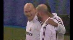 Taconazo de Guti y gol de Zidane con el Real Madrid, via YouTube.