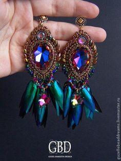 Handmade earrings. Fair Masters - handmade birds of paradise. Handmade.