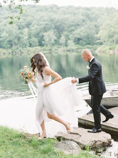 A Romantic Camp Wedding at Cedar Lakes Estate  ||  This site featured mountain, lake, and garden views. https://www.brides.com/story/a-romantic-camp-wedding-at-cedar-lakes-estate?utm_campaign=crowdfire&utm_content=crowdfire&utm_medium=social&utm_source=pinterest