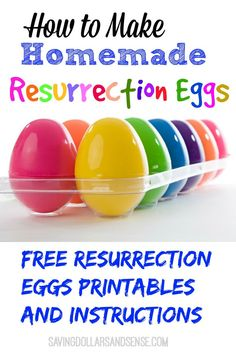 Meaningful easter gifts and activities for kids pinterest make your own homemade resurrection eggs using these free printables fun and simple way to negle Image collections