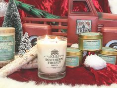 'Twas the week before Christmas and all through the house all the candles were burning... #southernfireflycandle #homedecor #shoplocal #handpoured #nashville #christmas #holidaydecor #tistheseason