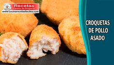 Croquetas de pollo asado,✅ aprende a preparar esta deliciosas croquetas caseras jugosas de un sabor realmente irresistible y muy fácil de preparar.[...] Empanadas, Cornbread, Tapas, Mashed Potatoes, Ethnic Recipes, Food, Chicken Croquettes, Homemade Recipe, Smoked Salmon