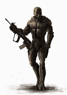 Sci-fi future soldier in battle armor - V-Kämpfer.jpg (1130×1600)