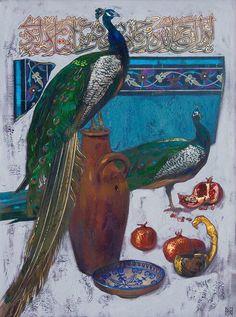 "Kazakh painter Nurlan Kilibayev. ""Saray Berke"", i.e. Capital of Golden Horde"