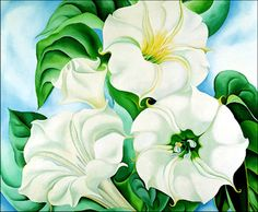 My favorite Georgia O'Keeffe. This beauty lives in an art museum in my city.
