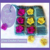 Garden Party Tic-Tac-Toe {Free Crochet Pattern}