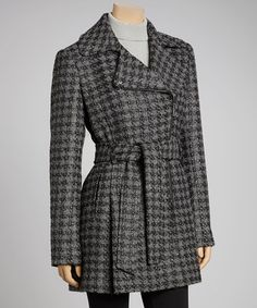 Take a look at this Black & Gray Plaid Jacket by Kenneth Cole on #zulily today!