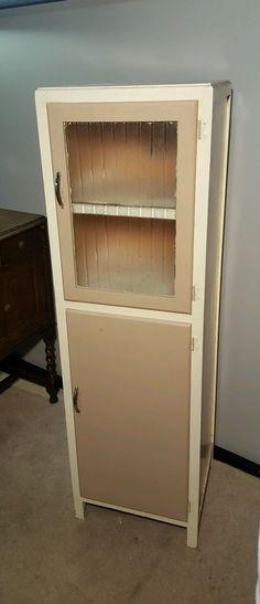 Retro Vintage METAL Kitchen Unit Larder Dresser Cupboard ...