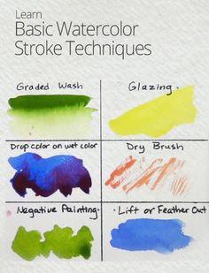 Watercolor Painting Techniques   Part 1