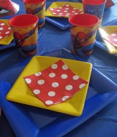 time 2 start planning 4 lil' man's next bday! 50th Party, Superhero Birthday Party, 4th Birthday Parties, Man Birthday, Birthday Ideas, Superman Party, Spiderman Theme, Star Wars Party, Craft Party