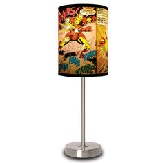 Marvel Comics Table Lamps Illuminate Panels of Your Favorite Heroes