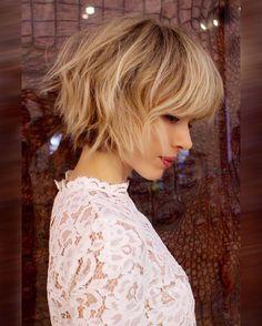 Short Shag Frisuren, Frauen einfache Frisur für kurze Haare