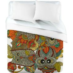 DENY Designs Valentina Ramos 4 Owls Duvet Cover, Twin by DENY Designs. $161.87. Manufacturing: 6 color dye process, custom printed for every order. Metal snaps for closure. Closure: Metal snaps seen in snap closure view. Color - Top: Full color, Color - Bottom: White. Fabric: Ultra soft, 100-percent polyester microfiber. Turn your basic, boring down comforter into the super stylish focal point of your bedroom with this DENY Designs duvet cover. Custom printed when y...