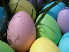 Easter eggs in the sunlight