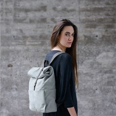 A convenient roll-top backpack that adapts to your needs.    Designed by Vanook and handcrafted in Germany.