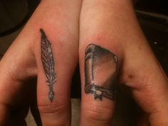 book tattoos finger - Google Search