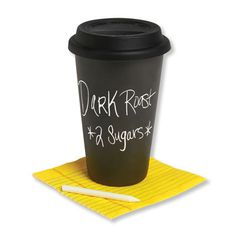 Chalkboard Coffee Cup- You can actually write on this! Great Teacher Gift :)