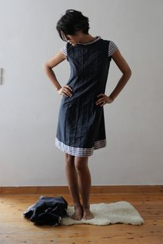 maritimes+Kleid+von+A+N+I+A++Z+A+R+I+A+auf+DaWanda.com Sewing Clothes, Summer Dresses, Hair, Etsy, Fashion, Gowns, Slip Dresses, Dresses For Women, Sewing Patterns