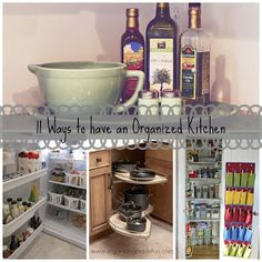 organize kitchen pantry shelf
