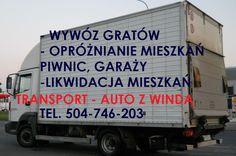 Auto z windą Wrocław, tel 504-746-203. Transport samochodem z winda załadowczą, przewóz palet, rzeczy, maszyn . Samochód z w windą hydrauliczną. tel 504-746-203. Wrocław
