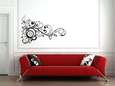 Wall stickers - you can move them after applying and they won't take the paint off your walls. I want!!!