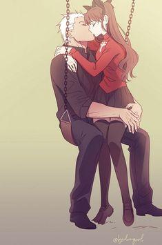 Rin x Archer  Kiss