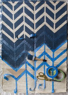 Chevron printing on fabric made easy how to print your own fabrics for fashion and soft furnishings
