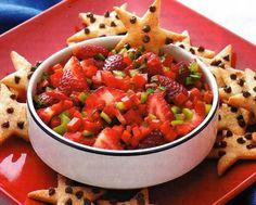 Cafe' Hoffy: Strawberry Salsa....yummmy!!!