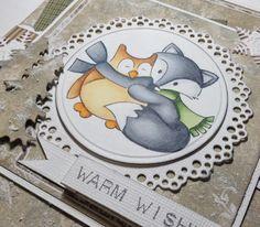 Lag koselige julekort med fargelagte stempelmotiv: Marianne Design, christmas, card, touch twin marker