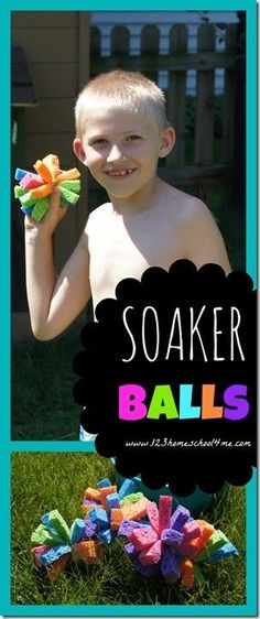 These Soaker Balls are a fun, easy to make Kids Summer Activity for kids of all ages that you must add to your summer bucket list