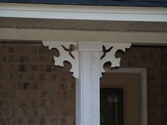 Durabrac Architectural components are manufactured from virgin celllular vinyl with U/V inhibitors. The LaRua vinyl porch bracket is from the East Hill Collection. Porch Brackets, Exterior, Mirror, Architecture, House, Home Decor, Beautiful, Arquitetura, Decoration Home