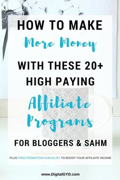 Looking for some affiliate marketing tips? Join these 20+ high paying affiliate programs to boost your blog income. Read to get free affiliate product promotion checklist and boost affiliate income. | high commission affiliate marketing programs | affiliate links | make money blogging | making money from home | make money at home | SAHM | BloggingTips via @swadhinagrawal