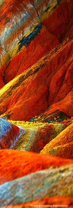 Zhangye Danxia Landform scarf on Behance Zhangye Danxia Landform - land form