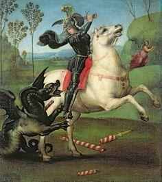 Raffaello Sanzio, St George Fighting the Dragon Musée du Louvre, Paris