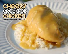 Cheesy Crockpot Chicken: So easy! Fix it and forget it. Perfect for busy schedules.