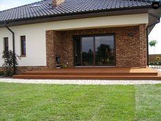 Exterior Wall Design, Patio Design, One Storey House, Home Exterior Makeover, Simple House Design, Home Design Plans, Design Case, My House, House Plans