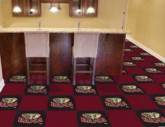"""MY TEAM MATS - University of Alabama Team Carpet Tiles  18"""" X 18"""" Tiles, $179.99…"""