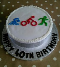 40th birthday triathlon cake - 21.02.16