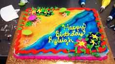 summer birthday cakes | summer beach kit cake i did for someones birthday