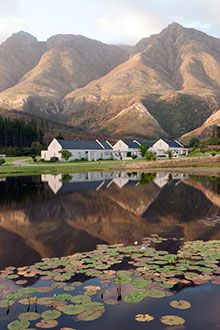 Cape Dutch style cottages at Gaikou Lodge, Swellendam