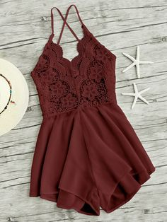 SHEIN offers Lace Panel Criss Cross Backless Romper & more to fit your fashionable needs. Fashion Clothes, Fashion Outfits, Womens Fashion, Fashion Fashion, Fashion Ideas, Vintage Fashion, Fashion Styles, Teen Outfits, Stylish Outfits