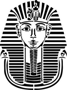 Stencil Schablone  Tutanchamun
