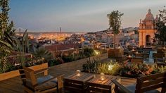 Rooftop Bar Lisbon - Our Favorites - Portugal Confidential It' a view of the city from atop a tall perch. Let's marvel at the spectacular vistas of Portugal's capital city while sipping a cool beverage at a Rooftop Bar in Lisbon. Terrace Restaurant, Rooftop Restaurant, Rooftop Terrace, Spain And Portugal, Portugal Travel, Portugal Trip, Lisbon Guide, Techno, Hotel Paris