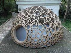 Картонные трубы как простой строительный материал