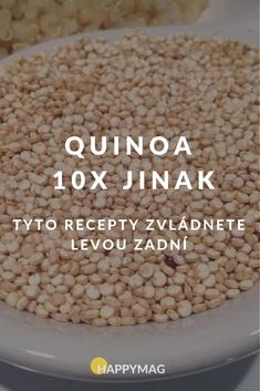 Quinoa je skvělá zdravá superpotravina, která je plná vitamínů a kvalitních bílkovin. Podívejte se na 10 jednoduchých receptů. #quinoa #recept #jidlo Gluten Free Recipes, Healthy Recipes, Good Food, Yummy Food, Healthy Baking, Food Inspiration, Quinoa, Sweet Recipes, Food And Drink
